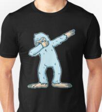2954bf4f6 Dabbing Bigfoot T-Shirt Funny Sasquatch Yeti dab Birthday Slim Fit T-Shirt