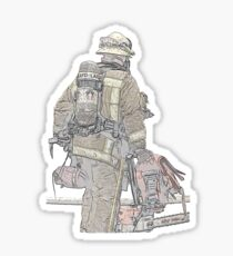 Firefighters are Real Heroes, Image 1 Sticker