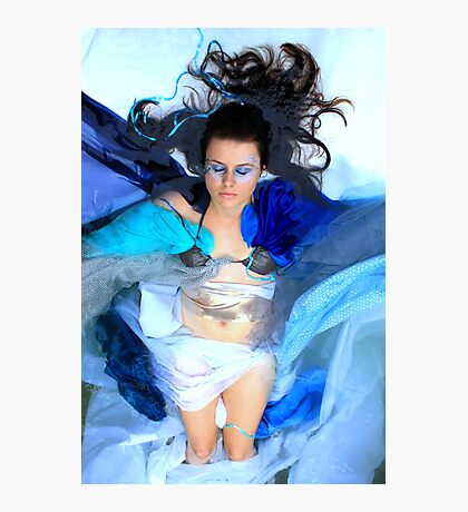 Floating in the remnants of a cleansing cocoon  Photographic Print