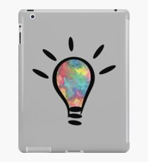 lightbulb electrical watercolor iPad Case/Skin