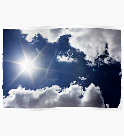 African Sky Blue Poster