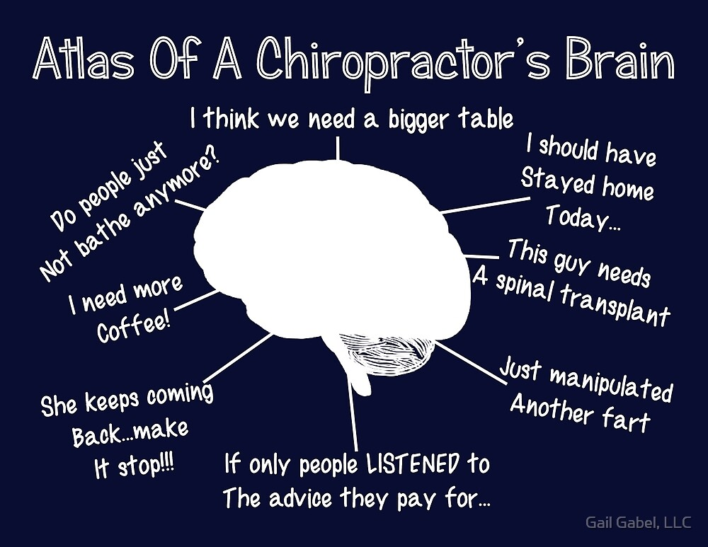 Funny Chiropractor's Thoughts by Gail Gabel, LLC