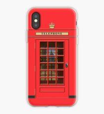 British Red Phone box with St Pauls iPhone Case