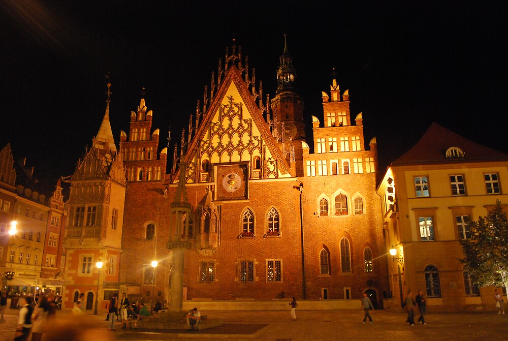cathedral at main plaza, Wroclaw, Poland by Robinho