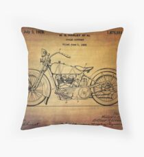 Harley Davidson Patent From 1928 Throw Pillow