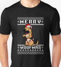 german shepherd dog merry woofmas t shirt christmas gift unisex t shirt