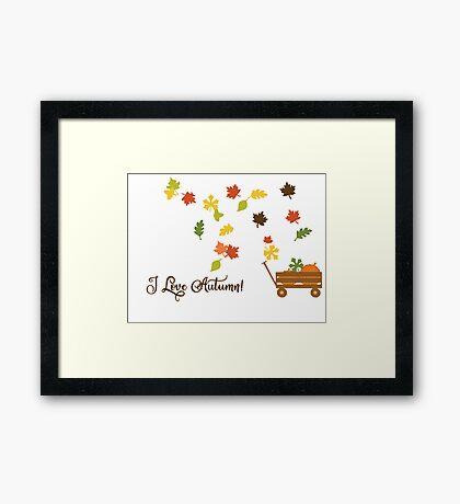 I Love Autumn Framed Print