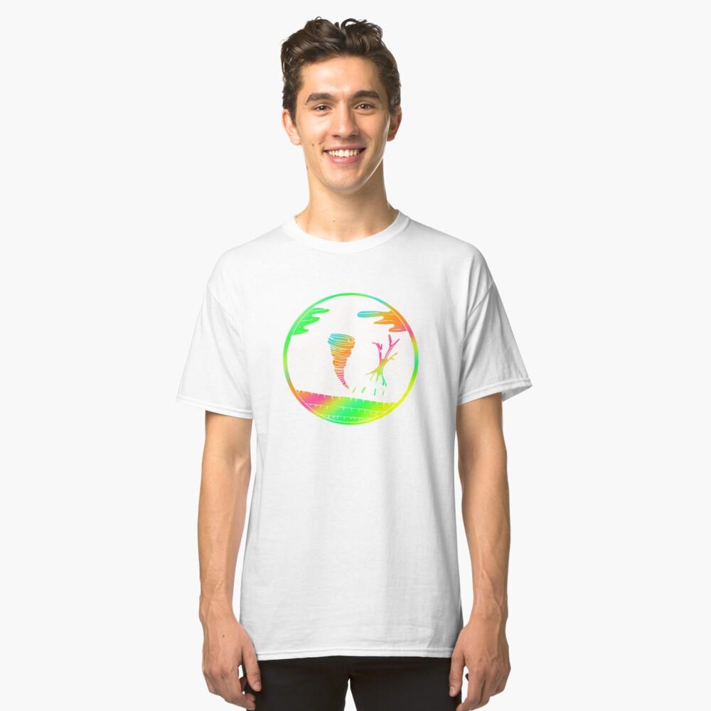 Colorful Tornado Art Design Gift Idea Classic T-Shirt Front