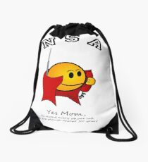NSA:  I'll record every phone call...except for MOM's! Drawstring Bag