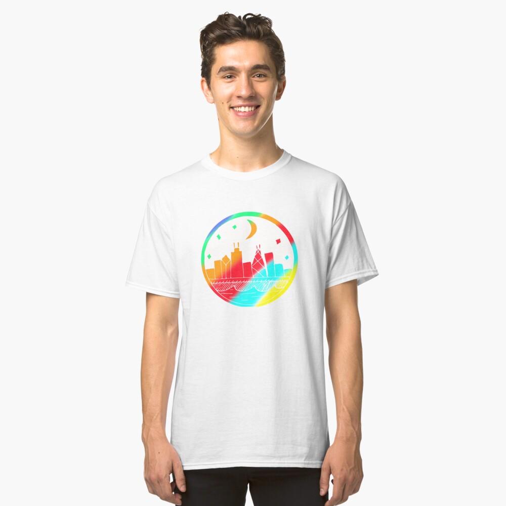 Colorful Building Art Design Gift Idea Classic T-Shirt Front