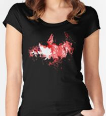 Dragon Red Flames Women's Fitted Scoop T-Shirt