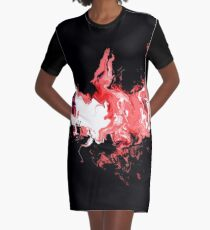 Dragon Red Flames Graphic T-Shirt Dress