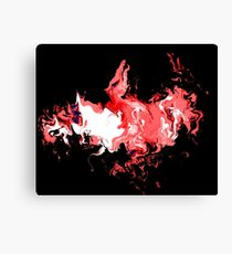 Dragon Red Flames Canvas Print