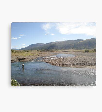 Fly Fisherman - Soda Butte Creek Metal Print