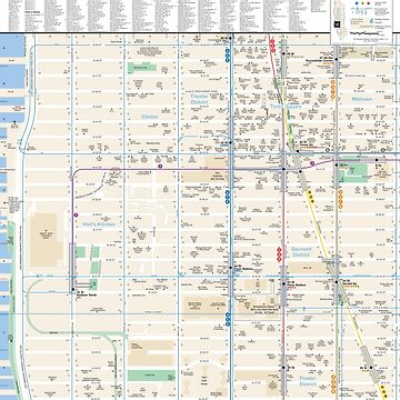 New York City - Pennsylvania Station / Times Square Map - HD by superfunky