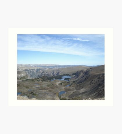 Beartooth Scenic Highway - Summit and Cirques Art Print