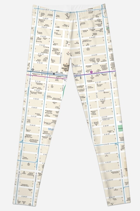Murray Hill Nyc Map.New York City Herald Square Murray Hill Map Hd Leggings By