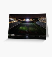 Princeton University Football Staduim at Night Greeting Card