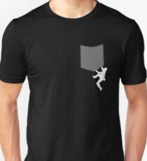 Mann bouldert an Tasche Unisex T-Shirt