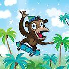 Skater Ape by flamingrhino