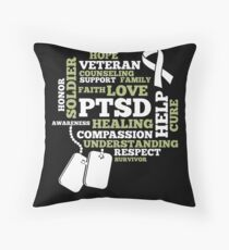 PTSD awareness Shirt - support veteran military Floor Pillow