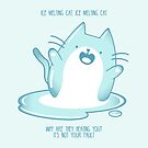 «Kawaii Ice derretir el gato» de EuGeniaArt