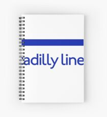London Underground - Piccadilly Line colour strip sign (roundel) Spiral Notebook