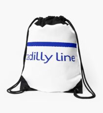 London Underground - Piccadilly Line colour strip sign (roundel) Drawstring Bag