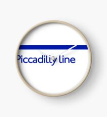 London Underground - Piccadilly Line colour strip sign (roundel) Clock