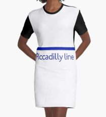 London Underground - Piccadilly Line colour strip sign Graphic T-Shirt Dress