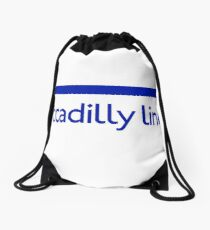 London Underground - Piccadilly Line colour strip sign Drawstring Bag