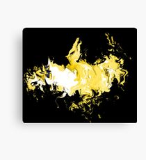 Dragon Gold Flames Canvas Print