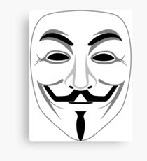 Guy Fawkes Transparent Canvas Print