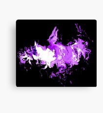 Dragon Purple Flames Canvas Print