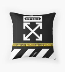 off white stripes pillows Throw Pillow