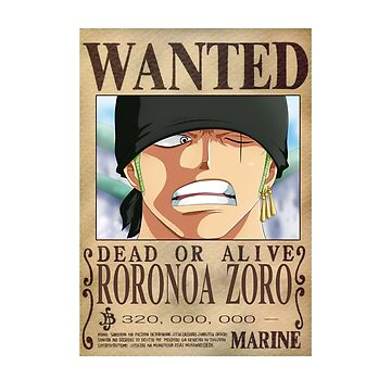 Zoro Wanted - One Piece by Lilzer99