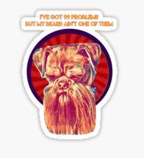 Dog Beard Tee  Sticker