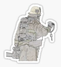 Firefighters are Real Heroes, Image 4 Sticker