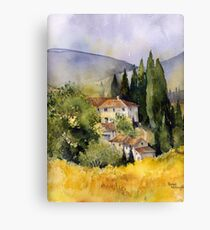 Morning in Tuscany Canvas Print