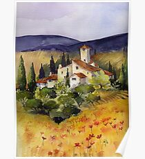 Evening in Tuscany Poster