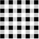 rustic french country farmhouse black and white plaid tartan by lfang77