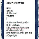 New World Order - Poem - #6911 by Kenneth S Lapham