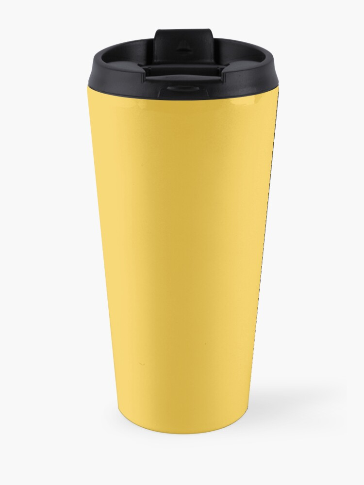 Alternate view of It's a Good Day to Be Happy in Yellow Travel Mug