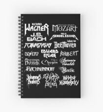 Heavy Metal-style Classical Composers Spiral Notebook