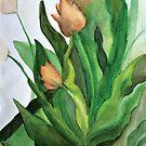 Watercolor Tulips  by brilliantblue
