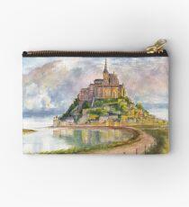 Mont Saint Michel Aquarelle Studio Pouch
