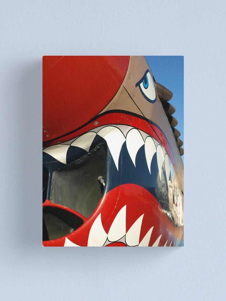 Alternate view of Warhawk Teeth Canvas Print