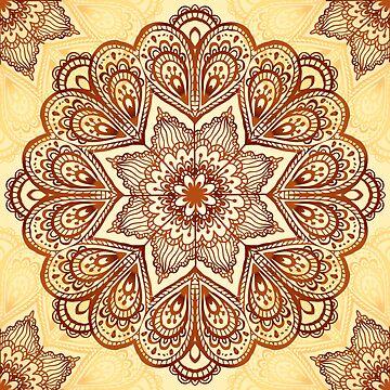 Ornate vintage vector napkin by 1enchik