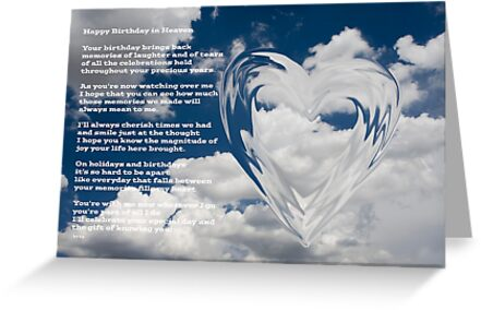 Happy Birthday In Heaven Greeting Cards By Nicole Markmann Nelson