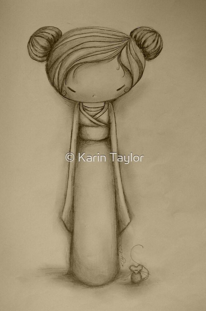 Kokeshi drawing by © Karin Taylor